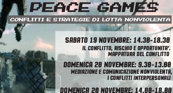 """""""Peace Games"""": conflitti e strategie di lotta nonviolenta [19-20 novembre, Torino]"""