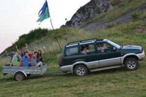 Rinnovo e restauro archeologico di un castello: campo in Slovacchia