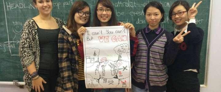 Un campo in Vietnam per insegnare le lingue a studenti con minori opportunità