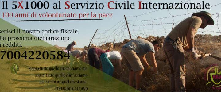 Il tuo 5XMille in sostegno del volontariato e della solidarietà internazionale