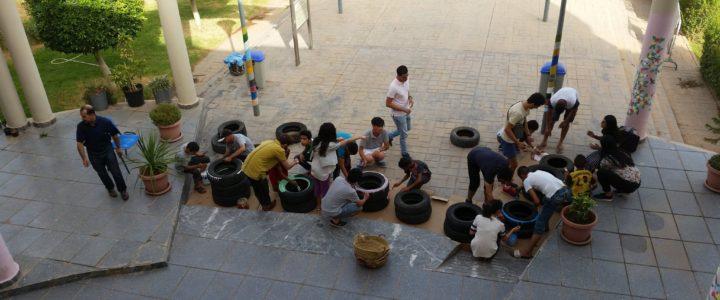 Manutenzione del parco ecologico per promuovere uno stile di vita sostenibile: un campo in Marocco