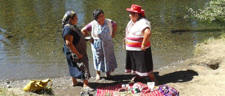 Organizzare la festa della cultura Mapuche: un campo in Cile