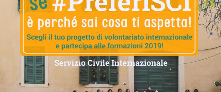 Partecipa alle formazioni 2019 di SCI-Italia e parti subito per un progetto di volontariato!