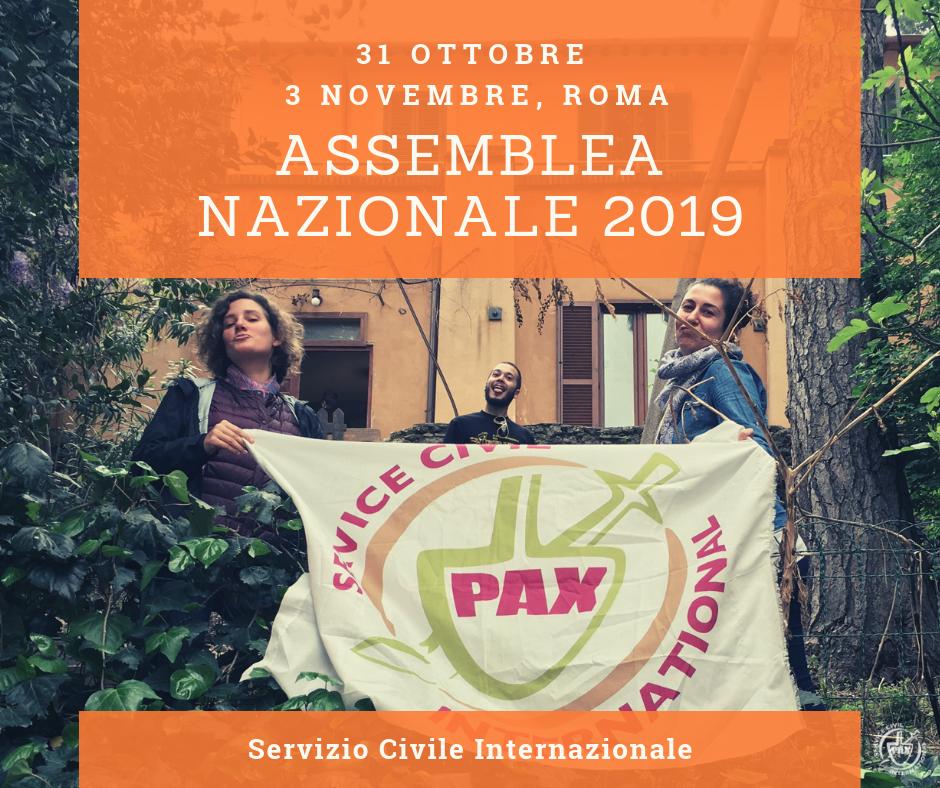Assemblea Nazionale 2019 del Servizio Civile Internazionale