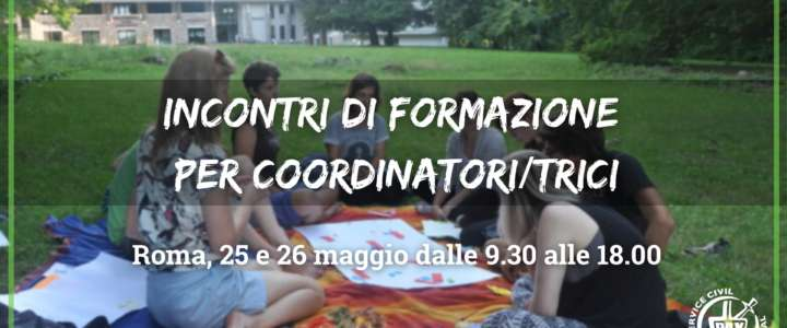 Incontri di formazione per coordinatori/trici a Roma