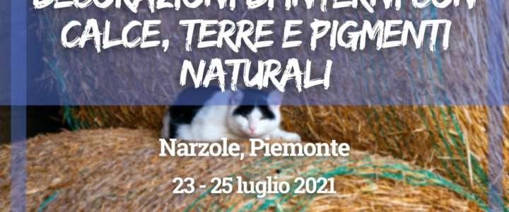 """Minicampo: """"Decorazioni di interni con calce, terre e pigmenti naturali"""" in Piemonte"""