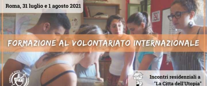 Incontri di formazione al volontariato internazionale 2021 a Roma