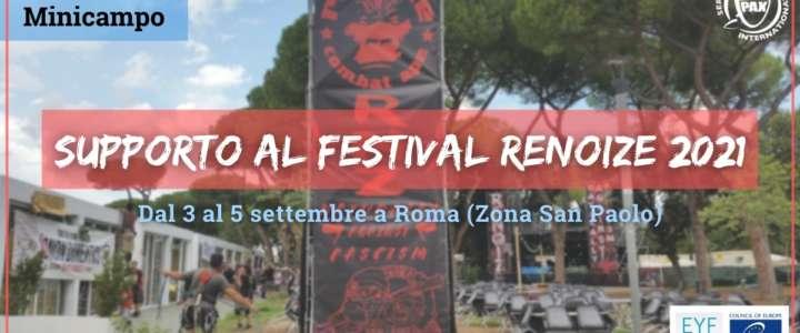 Mini-campo: Supporto al Festival Renoize 2021 (call chiusa)