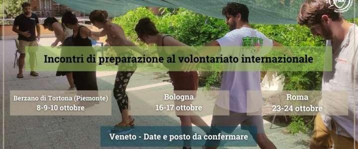 Incontri di preparazione al volontariato internazionale