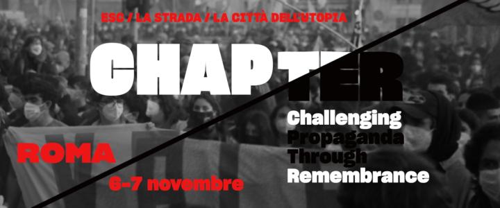 Evento finale del progetto Chapter: due giorni di antifascismo a Roma